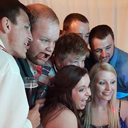 Photo Booth Del Sol fits a large crowd